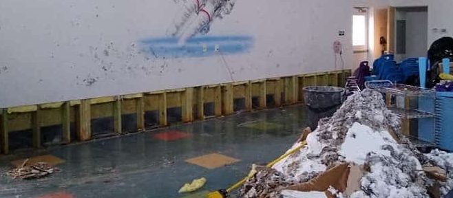 Disaster Recovery - Burst pipe caused major damage- clean up and demo begins